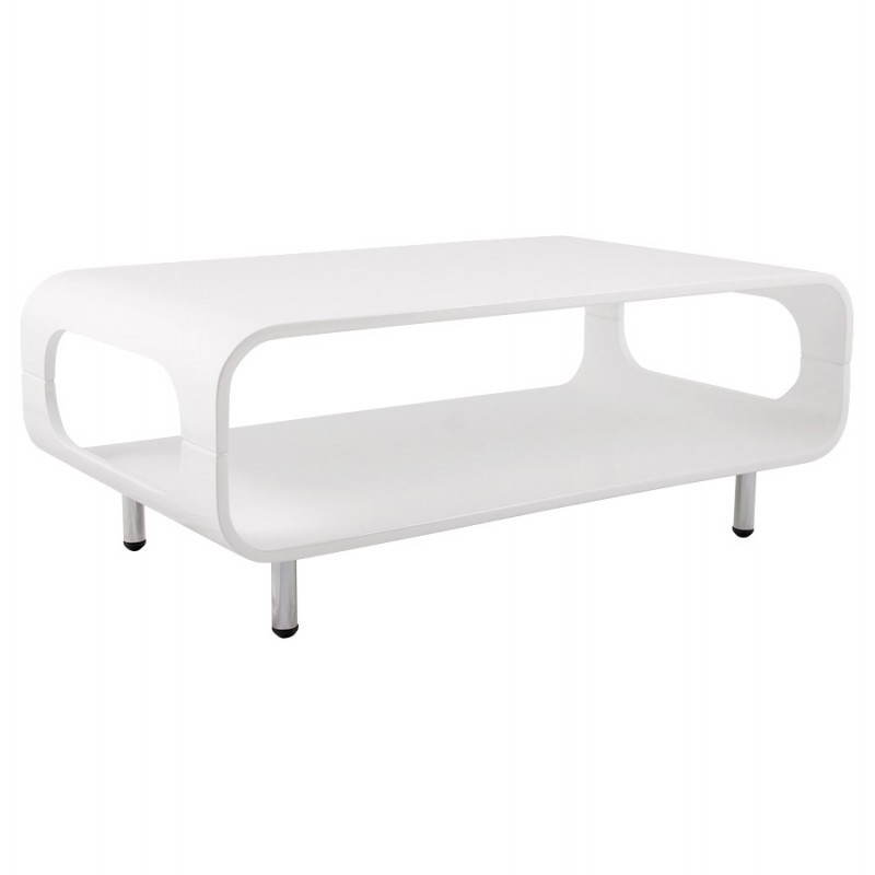 table basse rectangulaire lomme en bois laqu blanc fran ais french. Black Bedroom Furniture Sets. Home Design Ideas