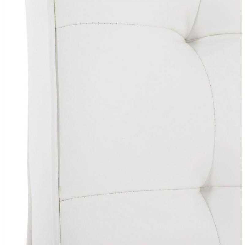 chaise vintage capitonn 233 e lingo en simili cuir blanc