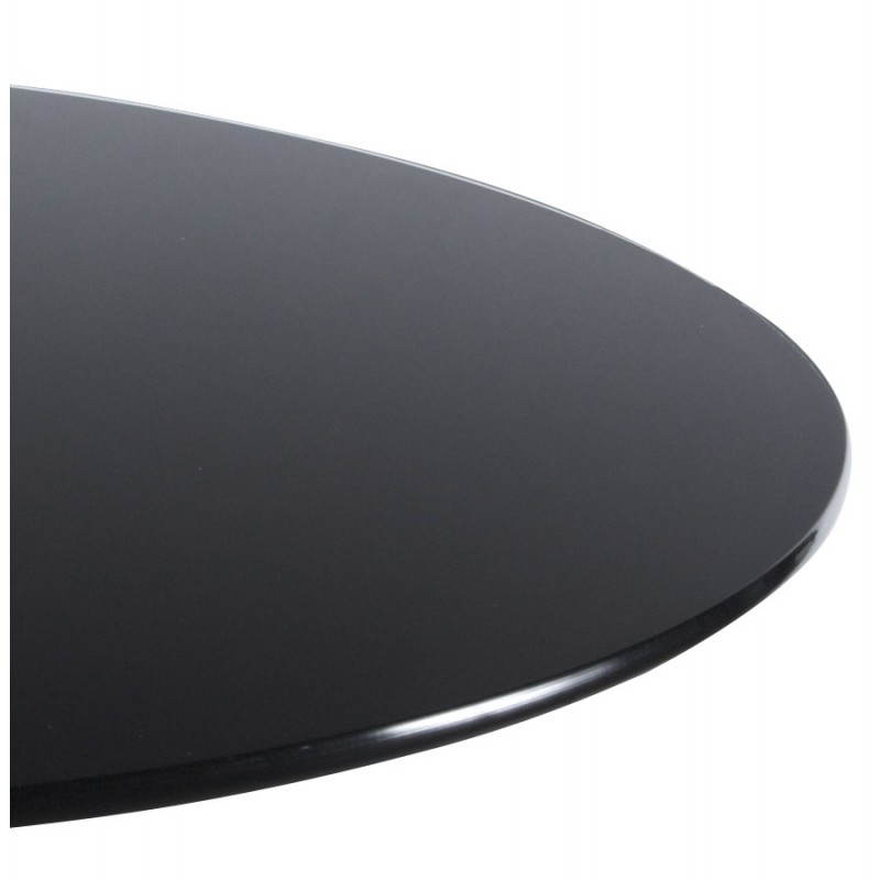 table haute d 39 appoint bary en verre et m tal chrom 65 cm noir mobilier design au meilleur. Black Bedroom Furniture Sets. Home Design Ideas