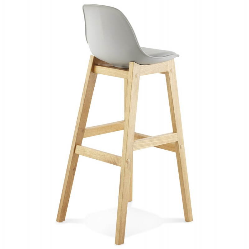 tabouret de bar design scandinave florence en simili cuir gris. Black Bedroom Furniture Sets. Home Design Ideas