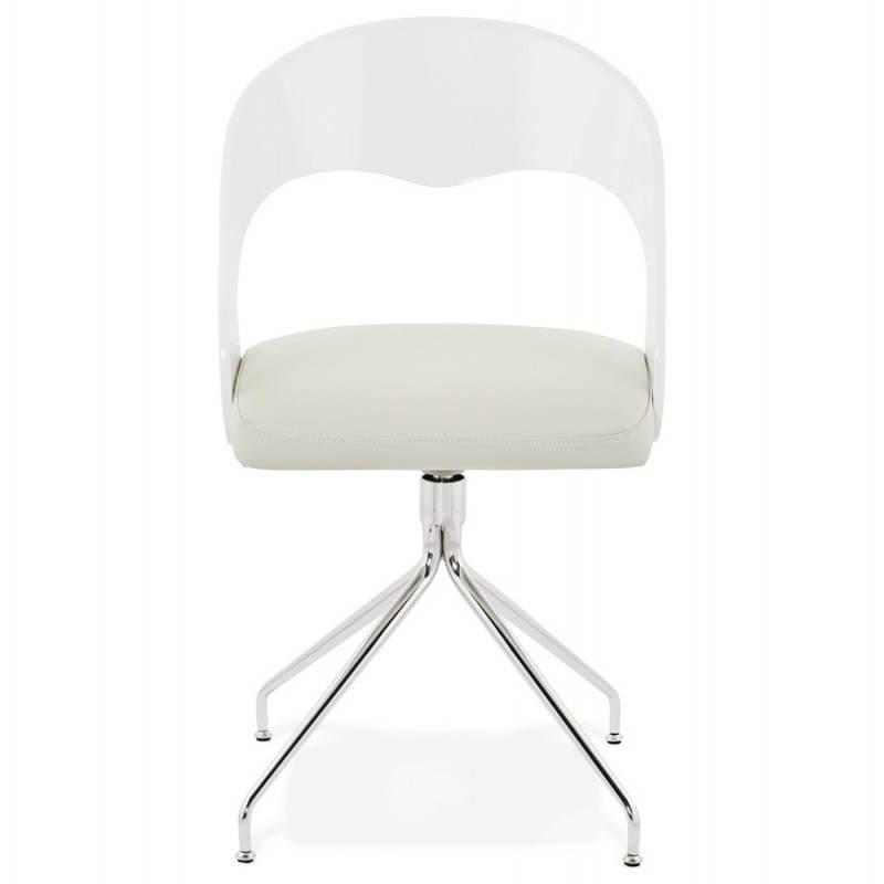 chaise design et moderne verone en simili cuir blanc. Black Bedroom Furniture Sets. Home Design Ideas