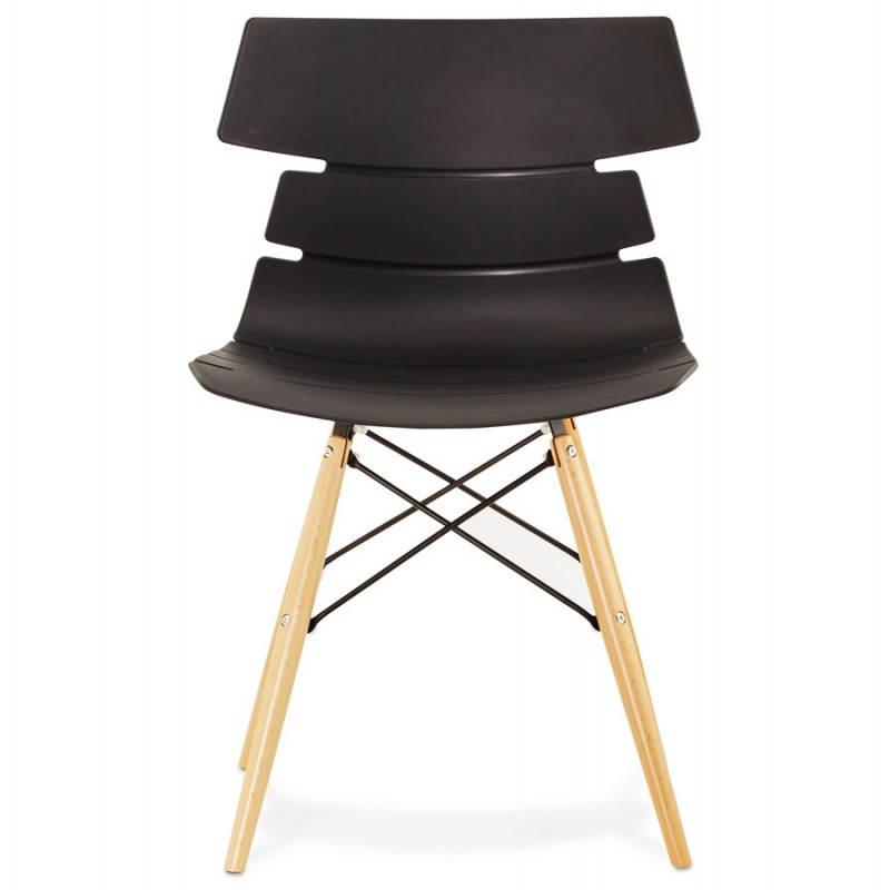 chaise originale style scandinave cony noir. Black Bedroom Furniture Sets. Home Design Ideas