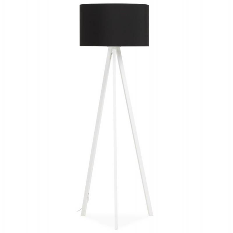 lampe sur pied de style scandinave trani en tissu noir blanc. Black Bedroom Furniture Sets. Home Design Ideas