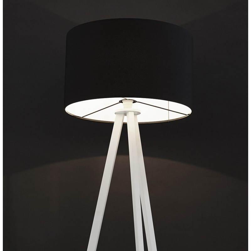 lampe sur pied de style scandinave trani en tissu noir blanc mobilier design au meilleur. Black Bedroom Furniture Sets. Home Design Ideas