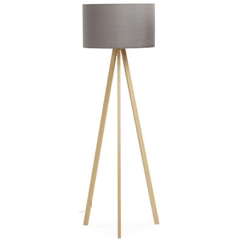 Lampe Sur Pied Scandinave : lampe sur pied de style scandinave trani en tissu gris naturel ~ Teatrodelosmanantiales.com Idées de Décoration
