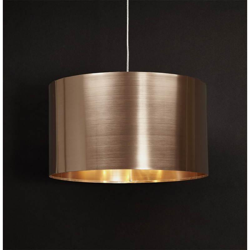 lampe suspendue forme cylindrique latin cuivre. Black Bedroom Furniture Sets. Home Design Ideas