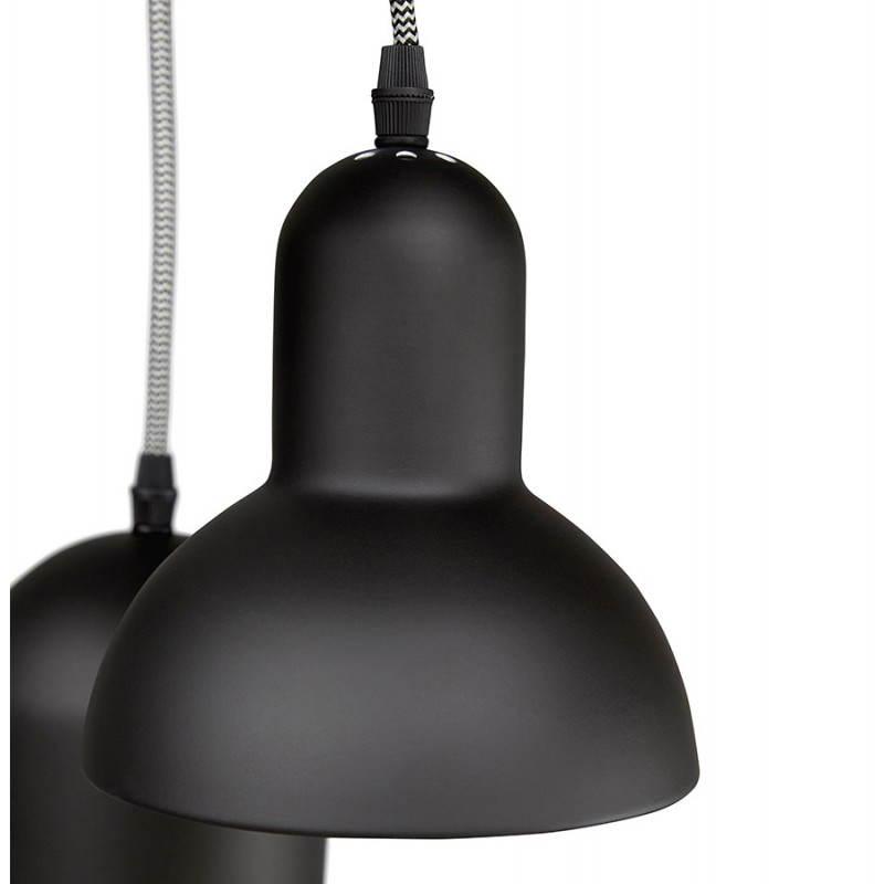 lampe suspendue industrielle 6 globes matera en m tal noir mat fran ais french. Black Bedroom Furniture Sets. Home Design Ideas