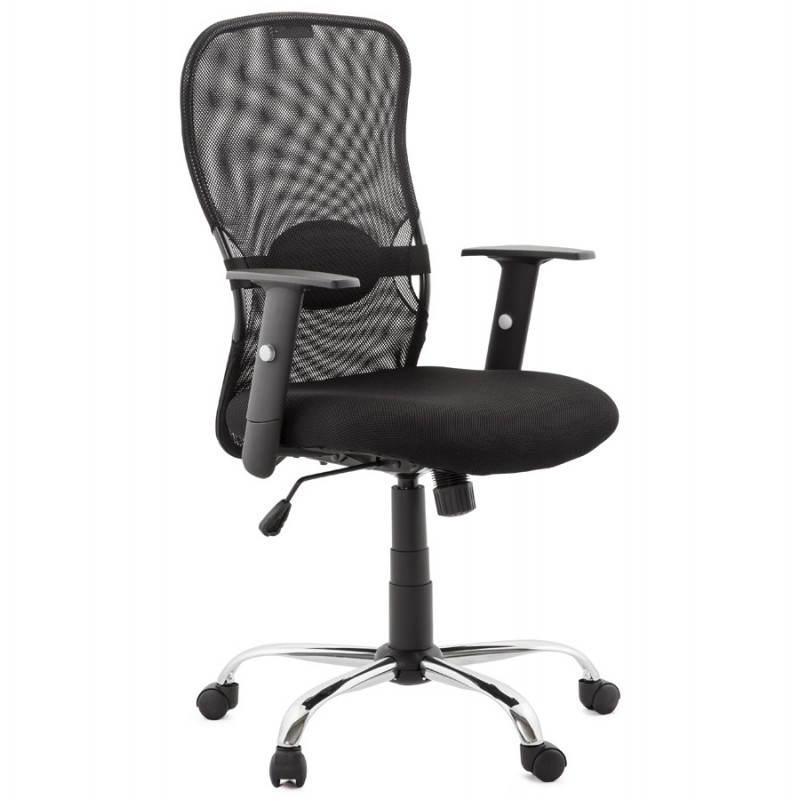 fauteuil de bureau modica en tissu noir mobilier design au meilleur rapport. Black Bedroom Furniture Sets. Home Design Ideas