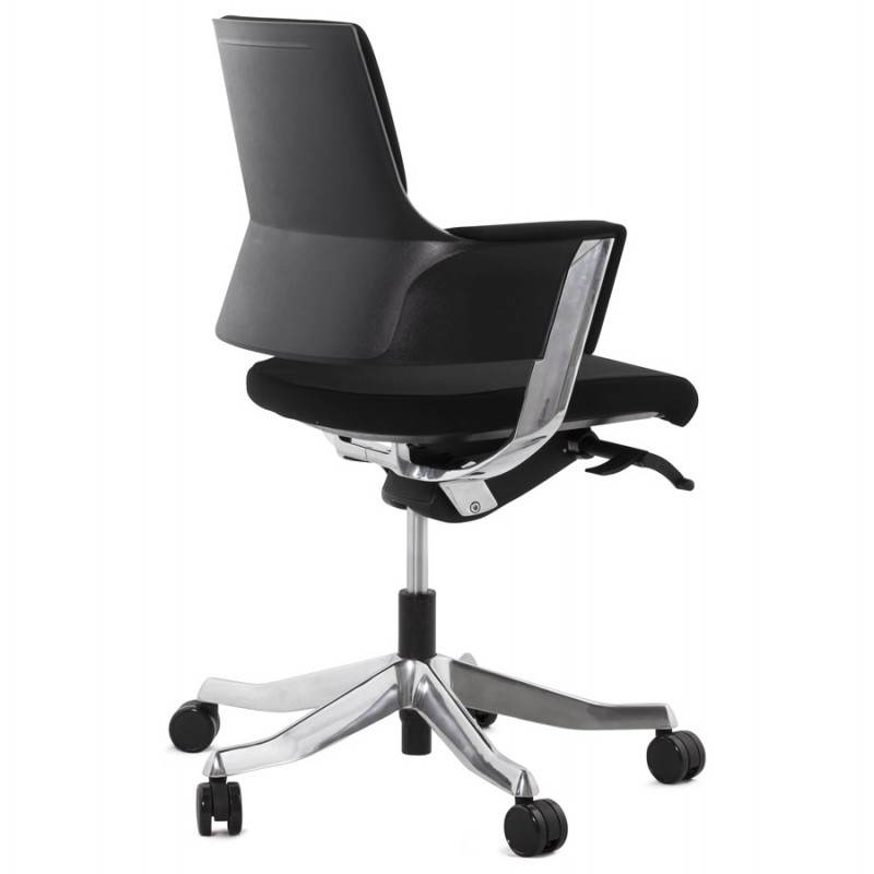 fauteuil de bureau ergonomique brique en tissu noir mobilier design au meil. Black Bedroom Furniture Sets. Home Design Ideas