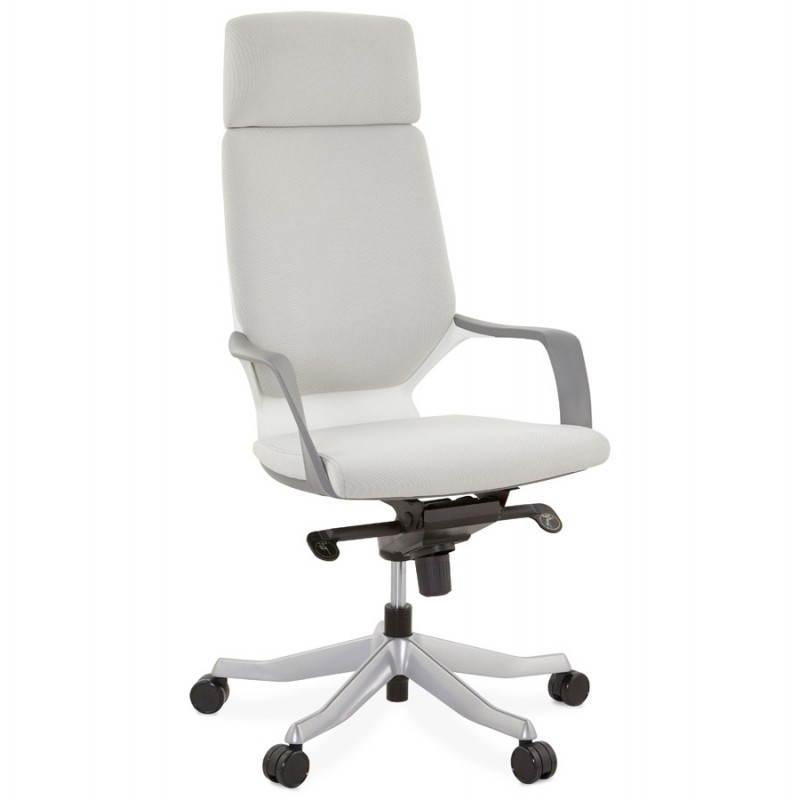 fauteuil de bureau ergonomique ramy en tissu gris mobilier design au meilleur rapport qualit prix. Black Bedroom Furniture Sets. Home Design Ideas