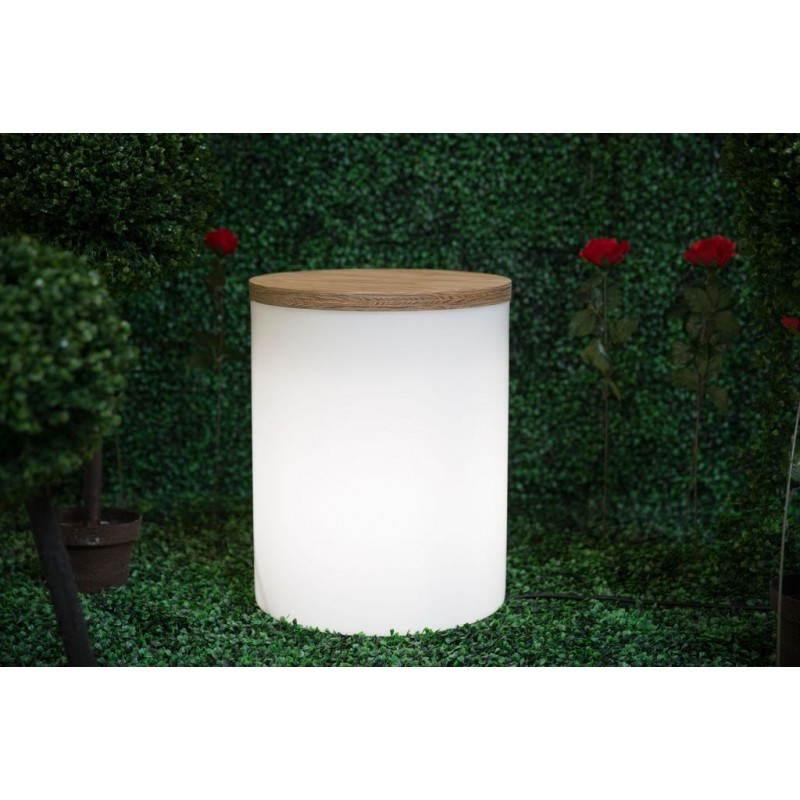 Table basse lumineuse exterieur for Exterieur table
