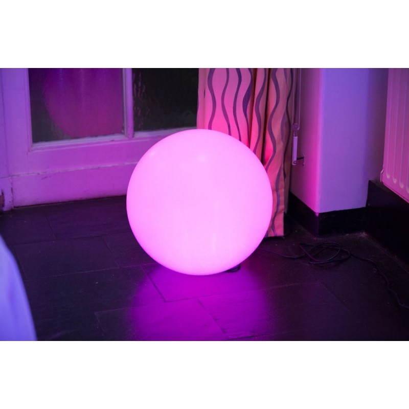 Lampe lumineuse globe int rieur ext rieur blanc led - Lampe led exterieur ...