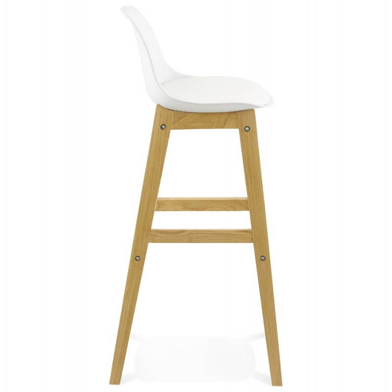 tabouret chaise de bar design scandinave florence en simili cuir blanc. Black Bedroom Furniture Sets. Home Design Ideas