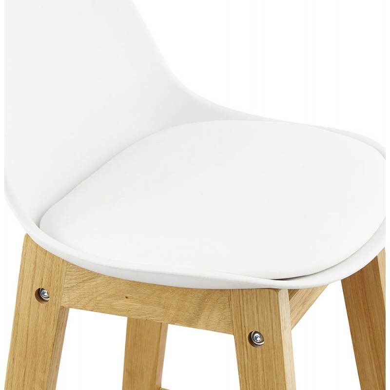 tabouret de bar design style scandinave florence en simili cuir blanc mobilier design au. Black Bedroom Furniture Sets. Home Design Ideas