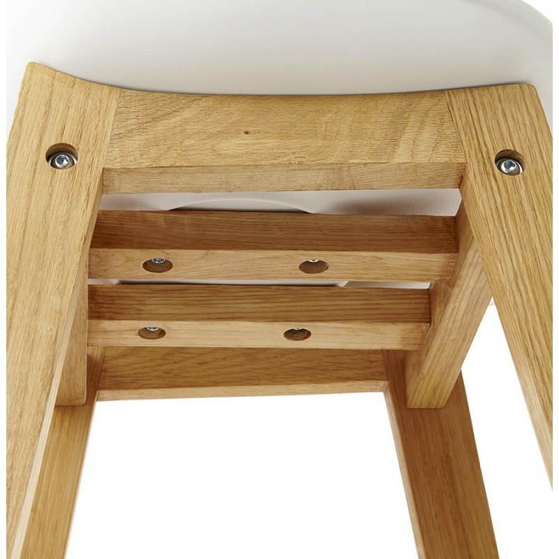 tabouret chaise de bar design scandinave florence en simili cuir blanc. Black Bedroom Furniture Sets. Home Design Ideas