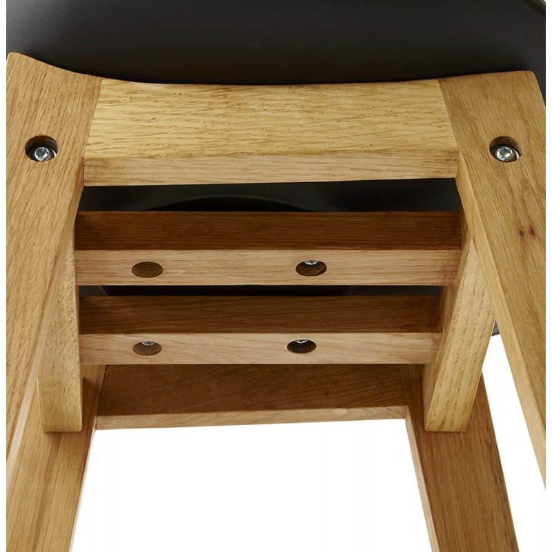 tabouret de bar design style scandinave florence en simili cuir noir. Black Bedroom Furniture Sets. Home Design Ideas