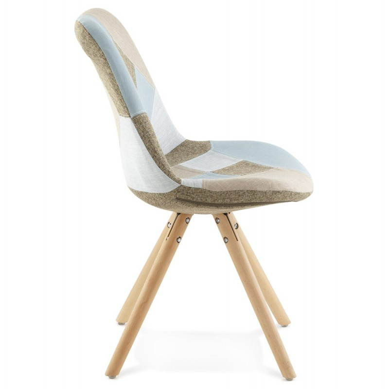 chair patchwork style scandinavian bohemian fabric blue. Black Bedroom Furniture Sets. Home Design Ideas