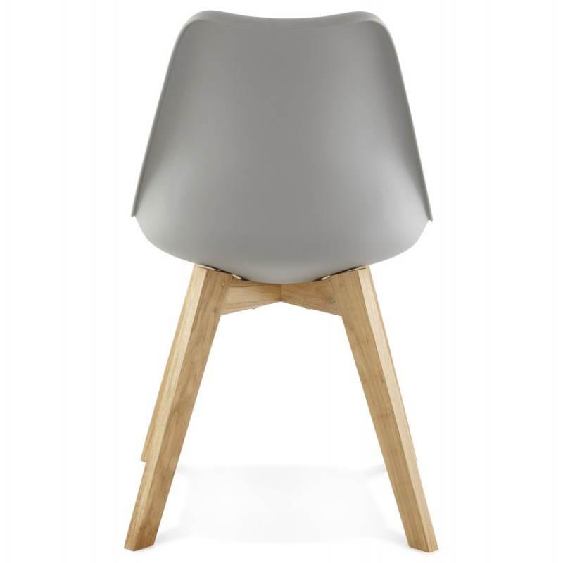 Chaise moderne style scandinave sirene en simili cuir gris - Chaise moderne ...