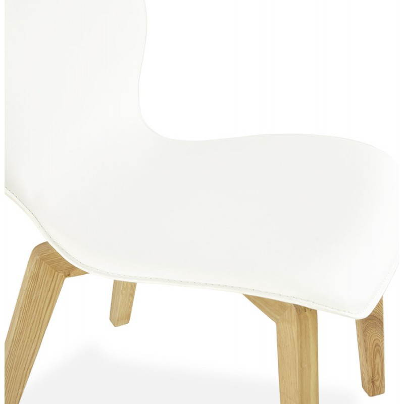 chaise vintage style scandinave marty en simili cuir blanc. Black Bedroom Furniture Sets. Home Design Ideas