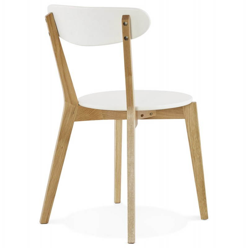 Chaise design style scandinave scandi en bois blanc for Chaises scandinaves