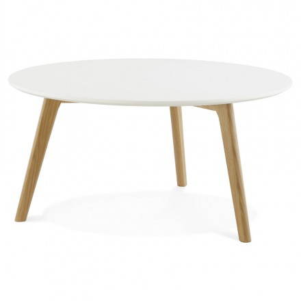 Tarot scandinavian coffee table in wood and oak white - Table basse relevable bois ...