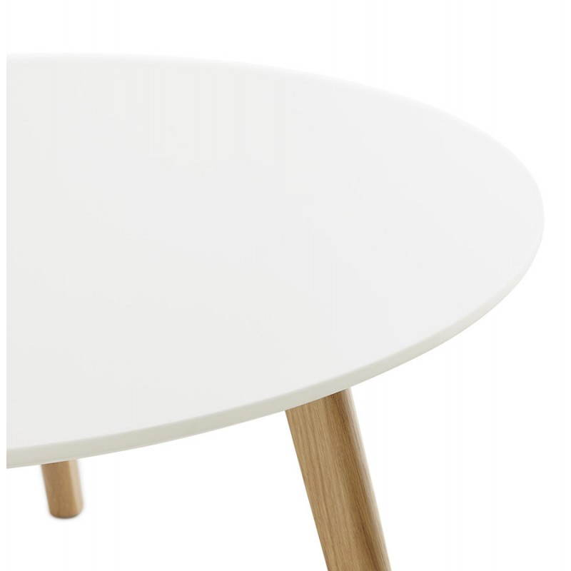 Table basse scandinave bois et blanc for Table basse blanc scandinave