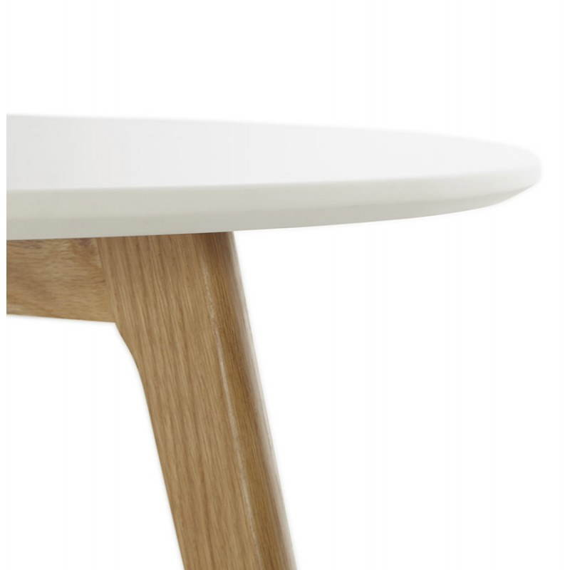 Table basse scandinave tarot en bois et ch ne massif blanc for Table basse bois scandinave