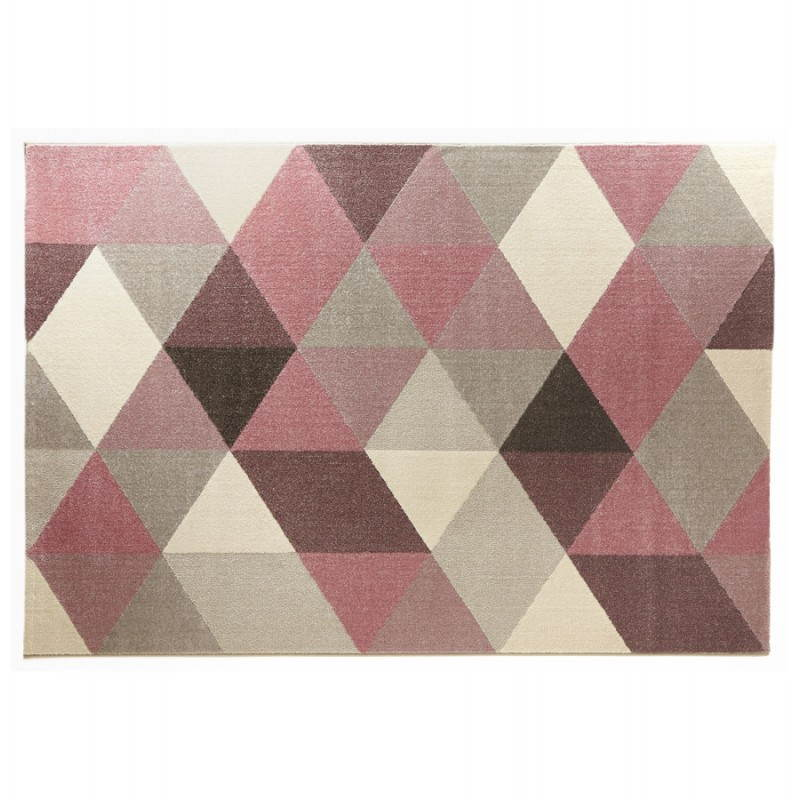 Carrelage Design tapis rose pale : Tapis design style scandinave rectangulaire GEO (230cm X 160cm) (rose ...