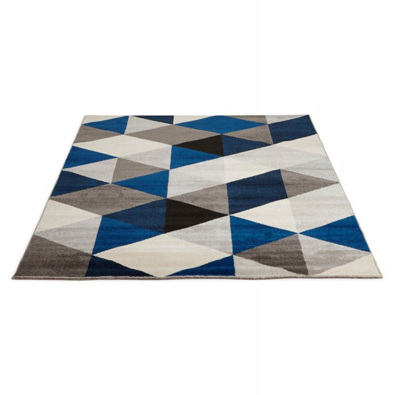tapis design style scandinave rectangulaire geo 230cm x With tapis design bleu