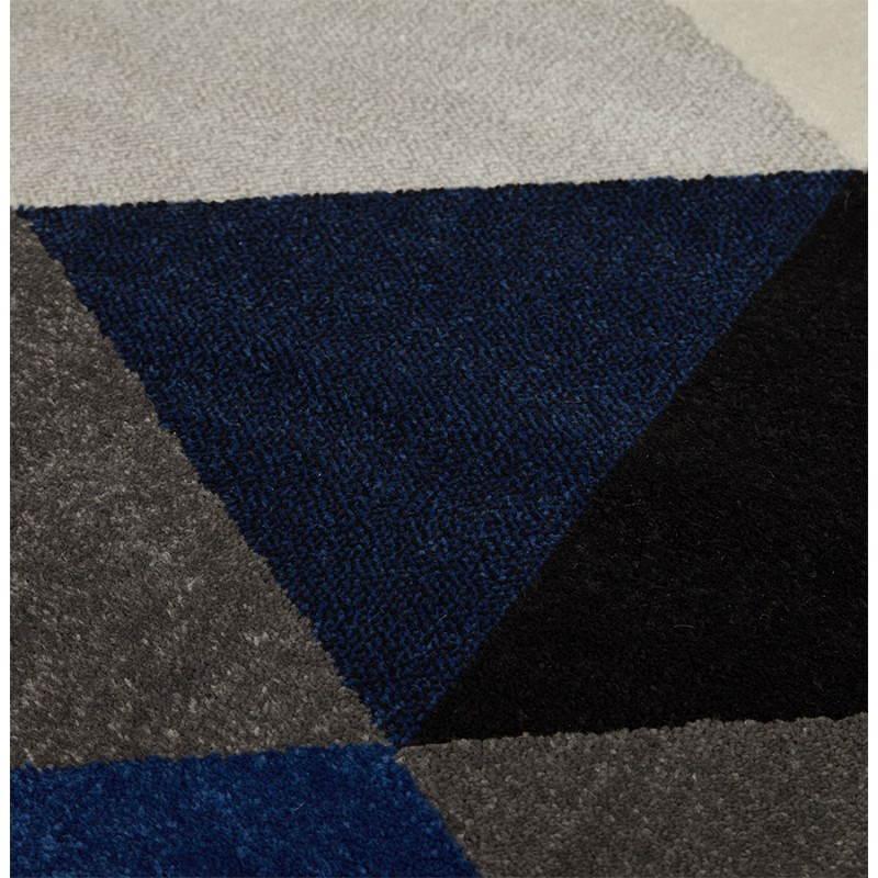 tapis design style scandinave rectangulaire geo 230cm x 160cm gris bleu beige. Black Bedroom Furniture Sets. Home Design Ideas