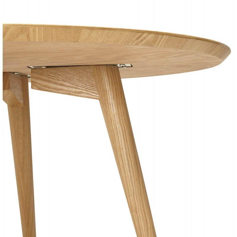 table manger style scandinave ronde pony en bois 120 cm naturel. Black Bedroom Furniture Sets. Home Design Ideas