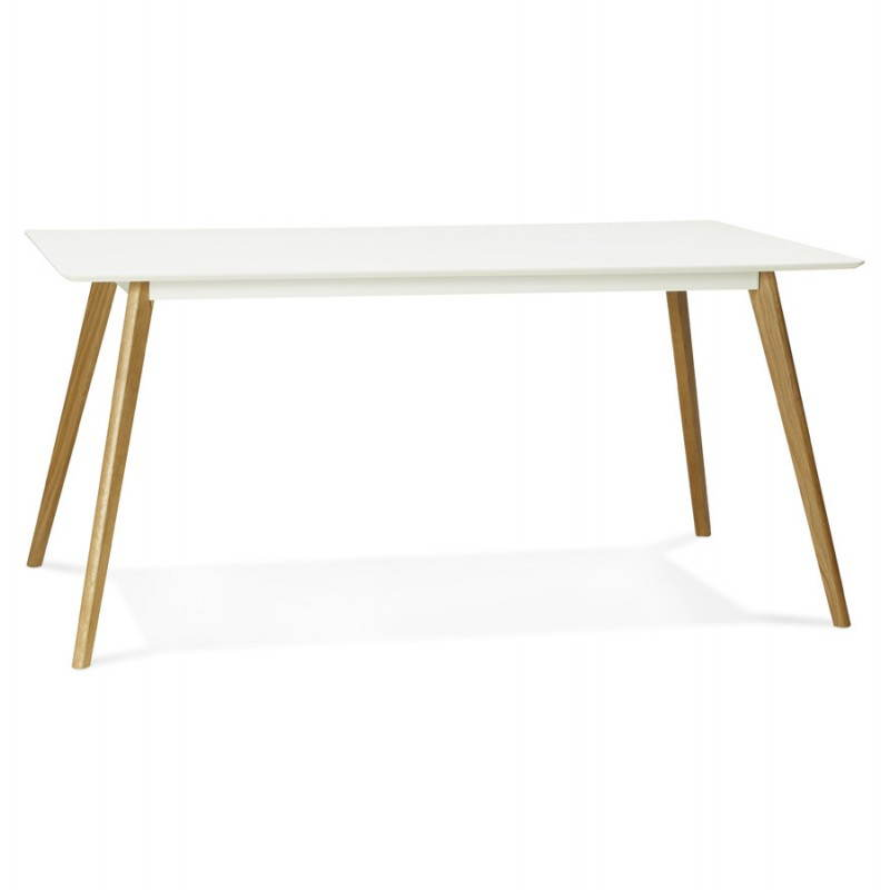 table manger style scandinave rectangulaire orge en bois blanc. Black Bedroom Furniture Sets. Home Design Ideas