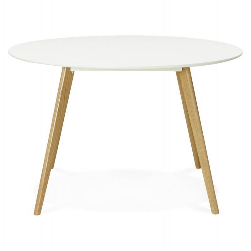 Table manger style scandinave ronde millet en bois for Table a manger ronde bois