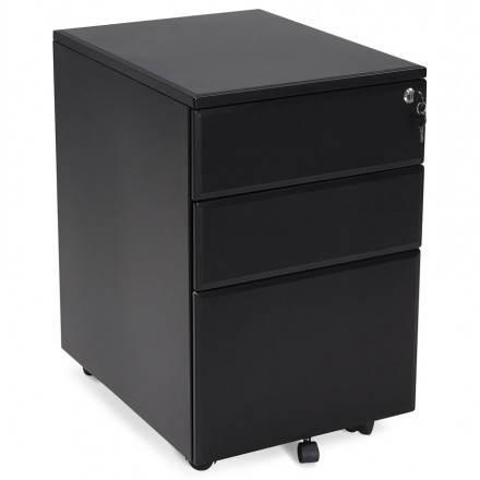 de mueble de oficina 3 cajones MATHIAS (negro) metal