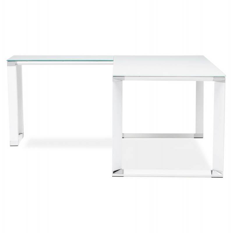 Table de bureau en verre trempe protection de table en - Bureau verre design contemporain ...