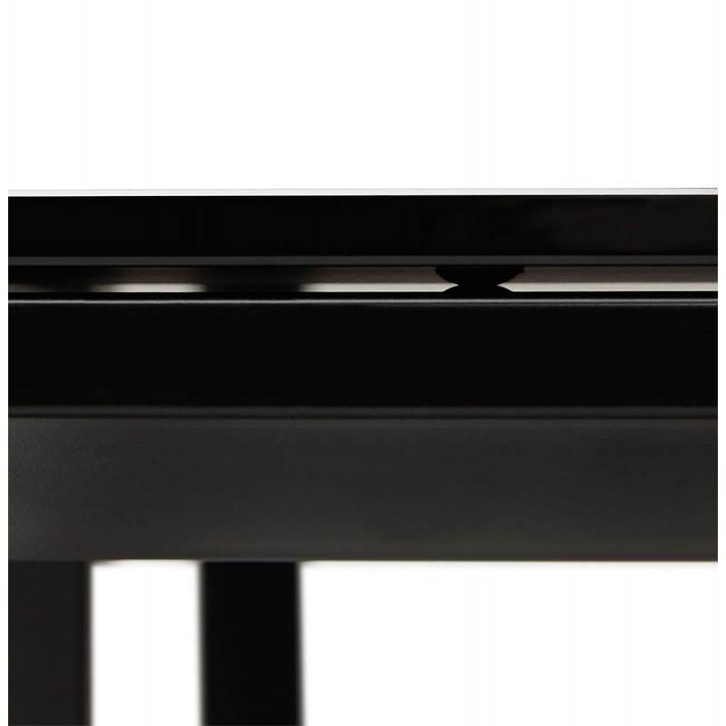 Bureau verre trempe noir 28 images bureau droit design for Meuble d angle bureau noir