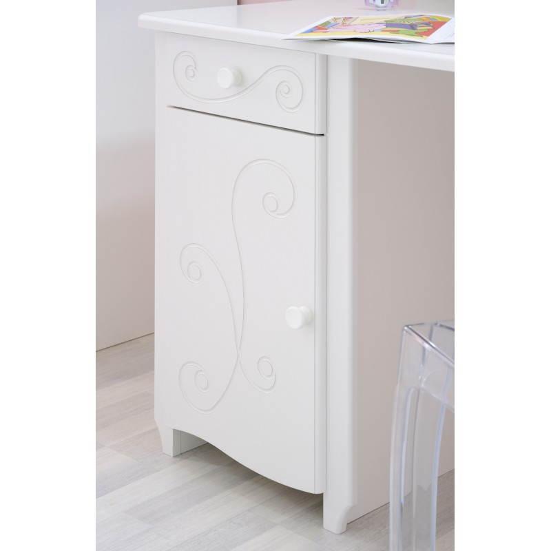 bureau fille style romantique altesse blanc mobilier. Black Bedroom Furniture Sets. Home Design Ideas