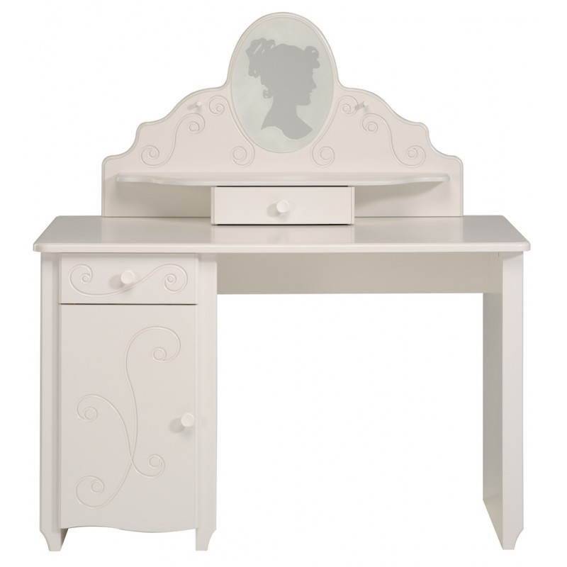 bureau fille style romantique altesse blanc mobilier design au meilleur rapport qualit prix. Black Bedroom Furniture Sets. Home Design Ideas