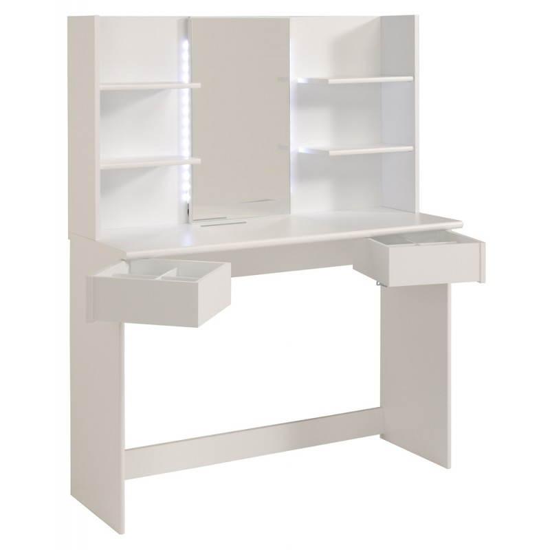 coiffeuse meuble design 1 miroir ambre blanc