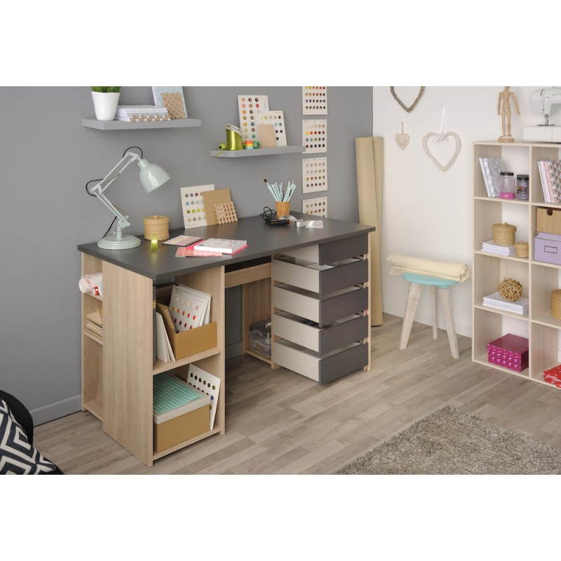 office craft benito oak grey shadow. Black Bedroom Furniture Sets. Home Design Ideas