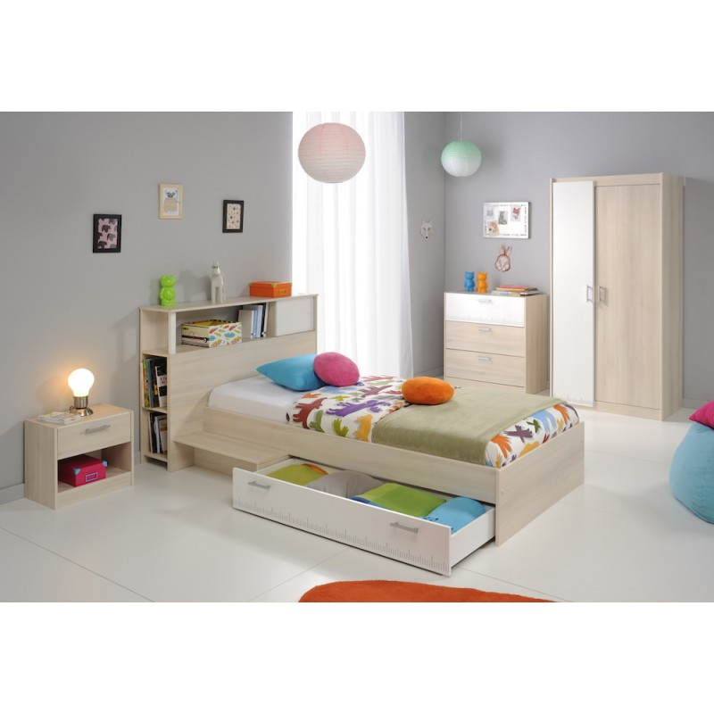t te de lit design avec rangement junior fille gar on alex. Black Bedroom Furniture Sets. Home Design Ideas