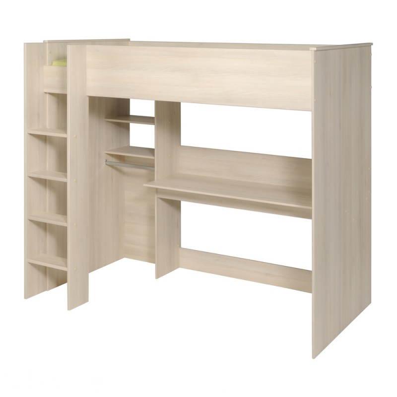 lit sur lev avec bureau et penderie junior fille gar on. Black Bedroom Furniture Sets. Home Design Ideas