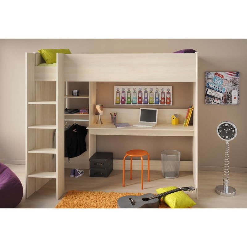 Chambre garcon lit sureleve for Bureau junior fille