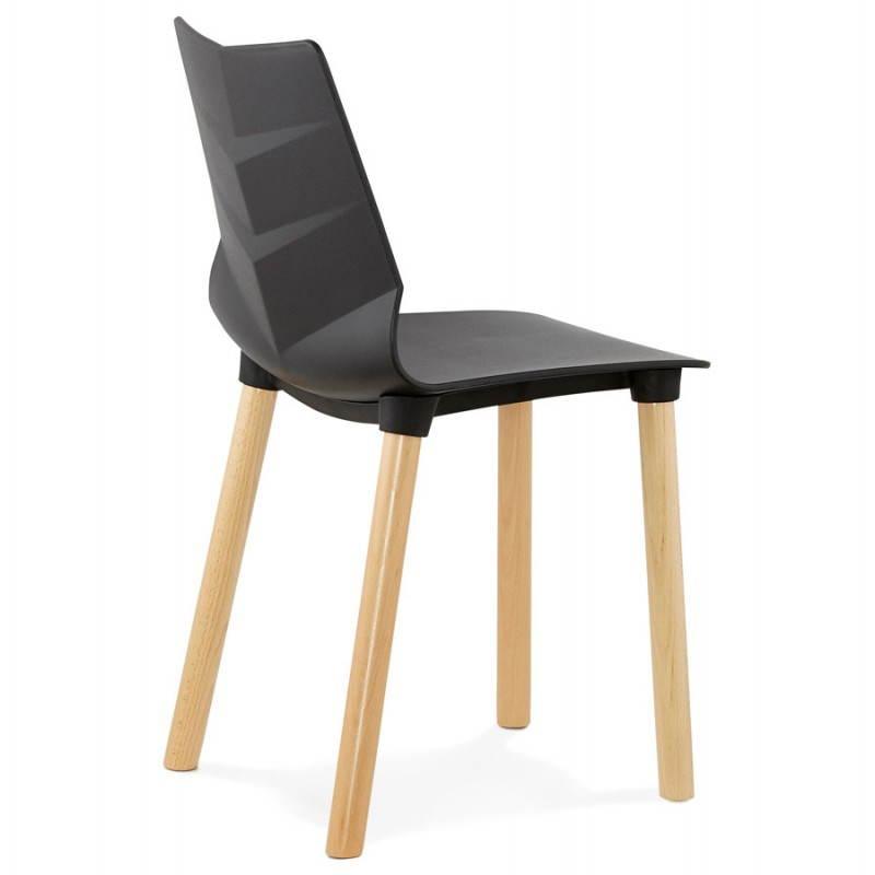 silla de dise o escandinavo suecia negro
