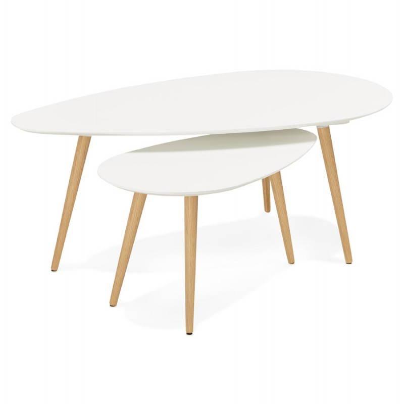table basse bois et blanc. Black Bedroom Furniture Sets. Home Design Ideas