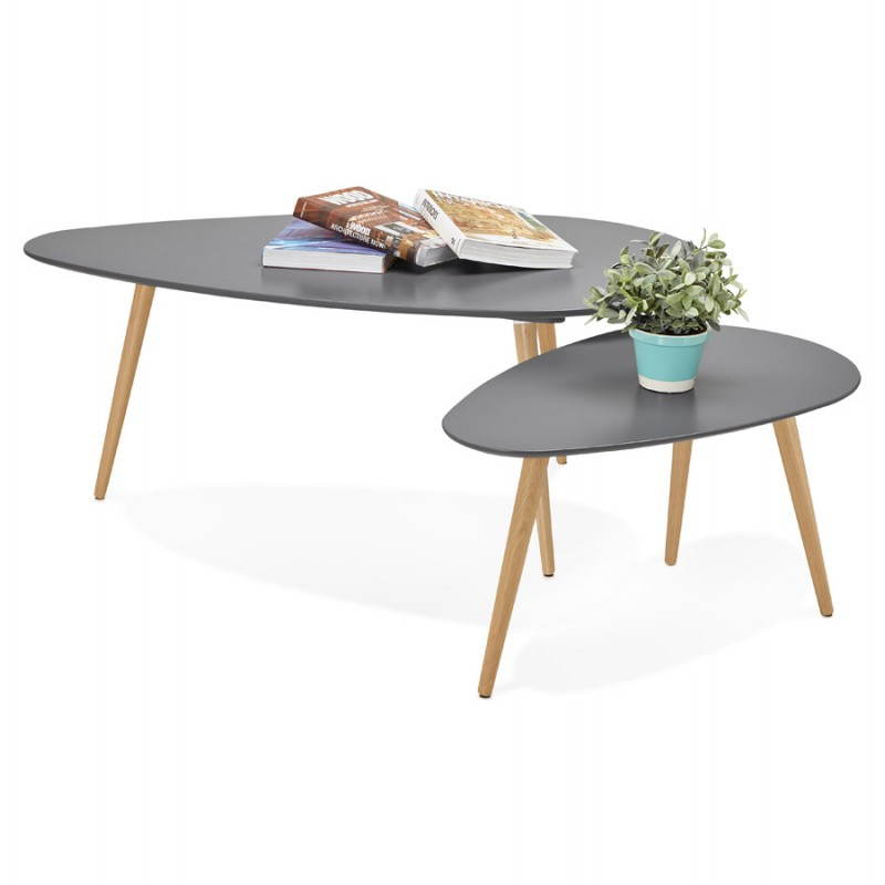 Table basse en bois gris Design interieur table basse en bois