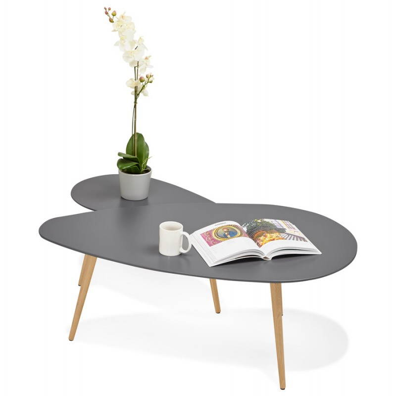 Table basse en bois fonce - Tables basses gigognes ...