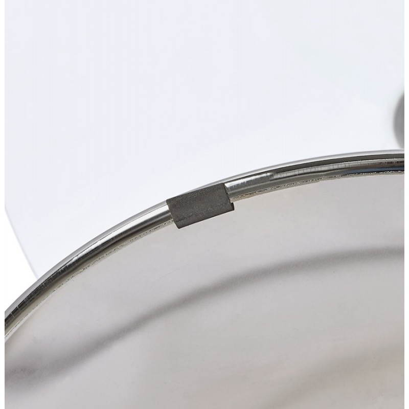 Table Ronde Verre 90 Cm : ... dining OLAV in glass and chromed metal (Ø 90 cm) table (transparent