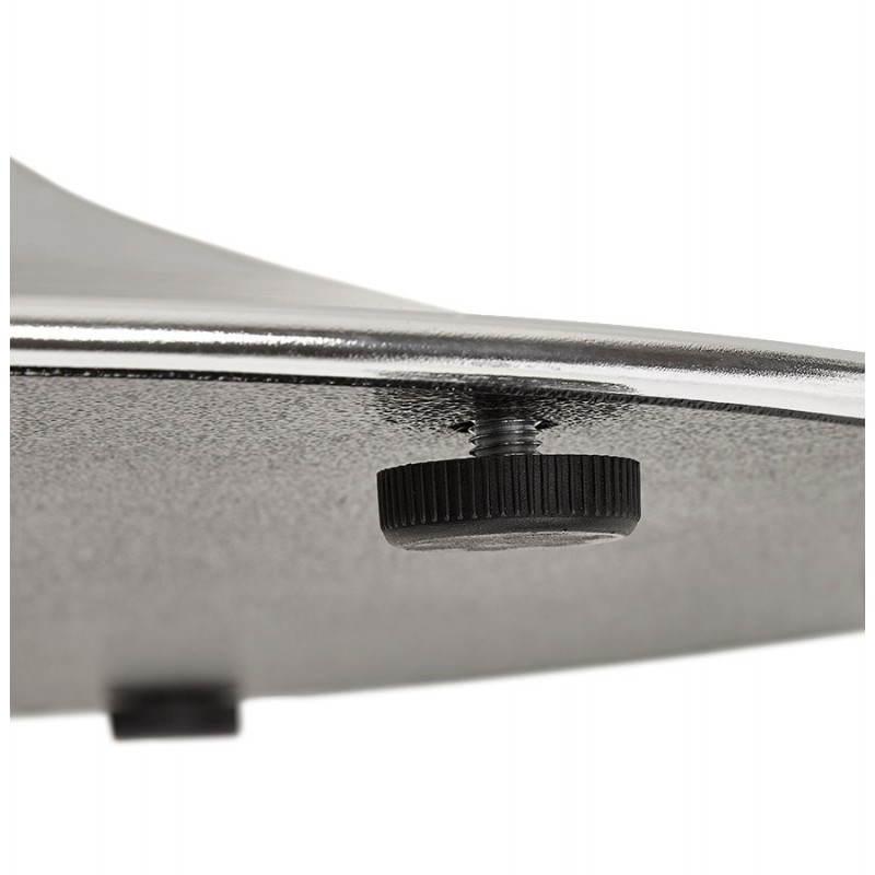 redondo RAYAS de comedor en mesa de madera y cromo de metal (Ø 120 ...