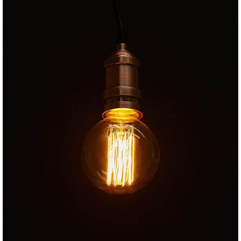 douille pour lampe suspension vintage industrielle eros en m tal cuivre. Black Bedroom Furniture Sets. Home Design Ideas